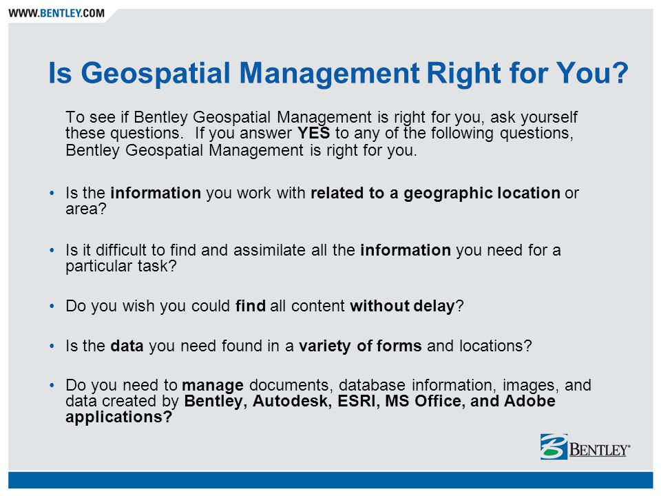 Is Geospatial Management Right for You