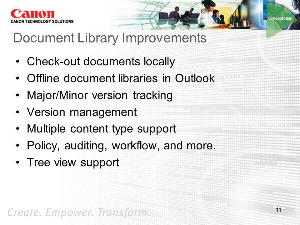 Document Library Improvements