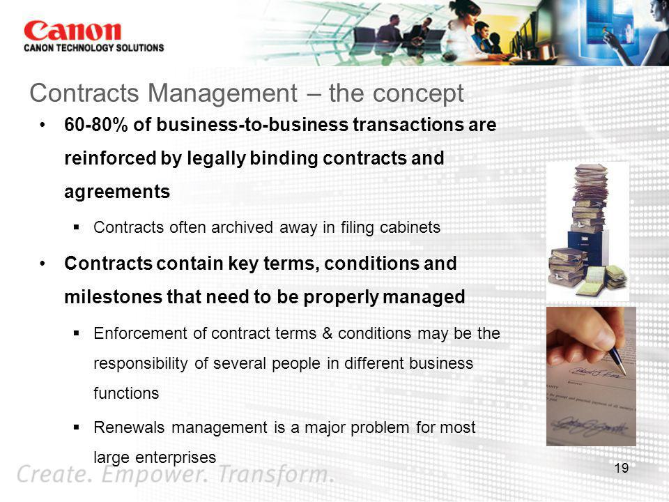 Contracts Management – the concept