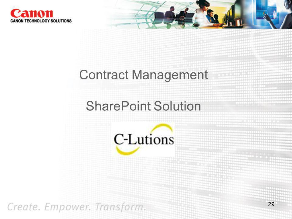 Contract Management SharePoint Solution