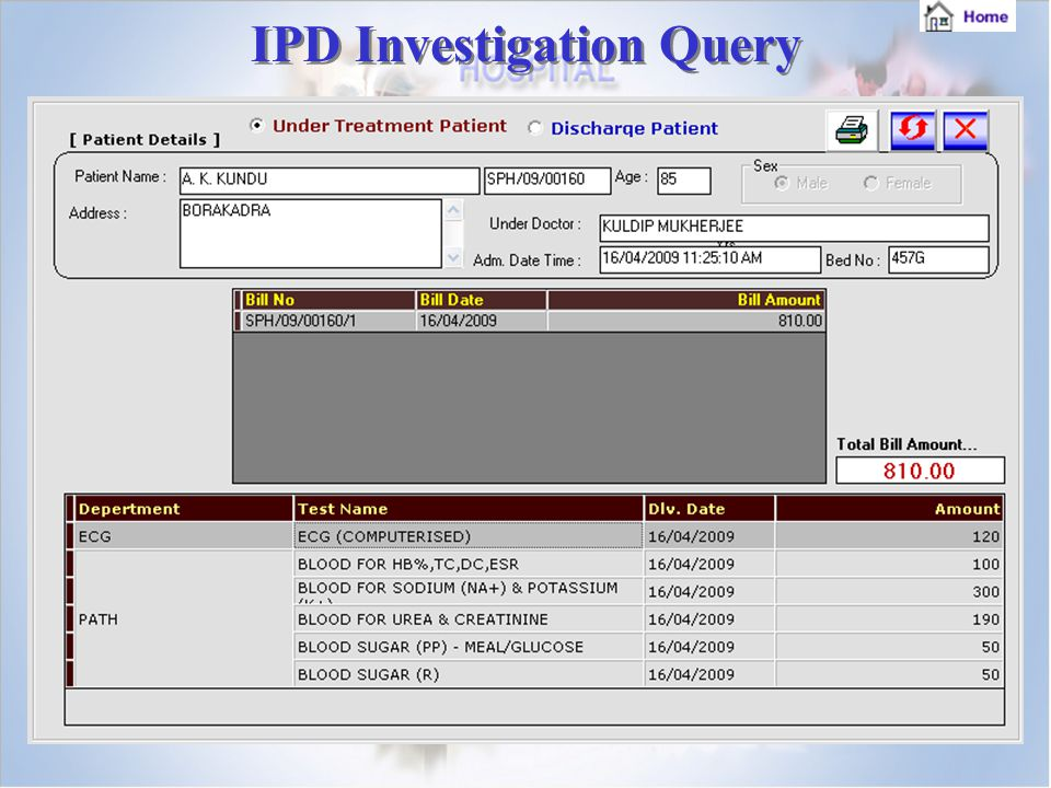 IPD Investigation Query