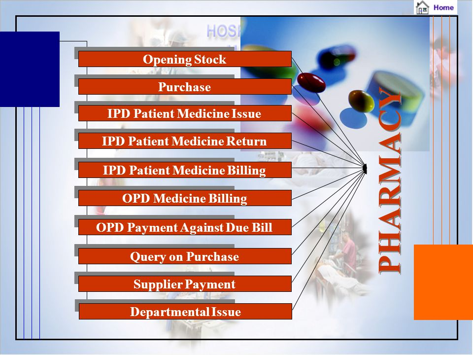 PHARMACY Opening Stock Purchase IPD Patient Medicine Issue