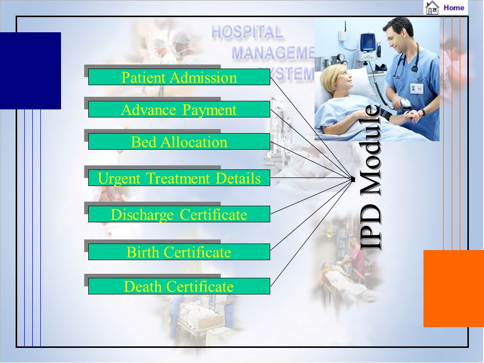 IPD Module Patient Admission Advance Payment Bed Allocation