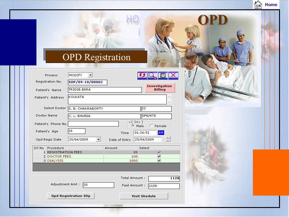 OPD OPD Registration