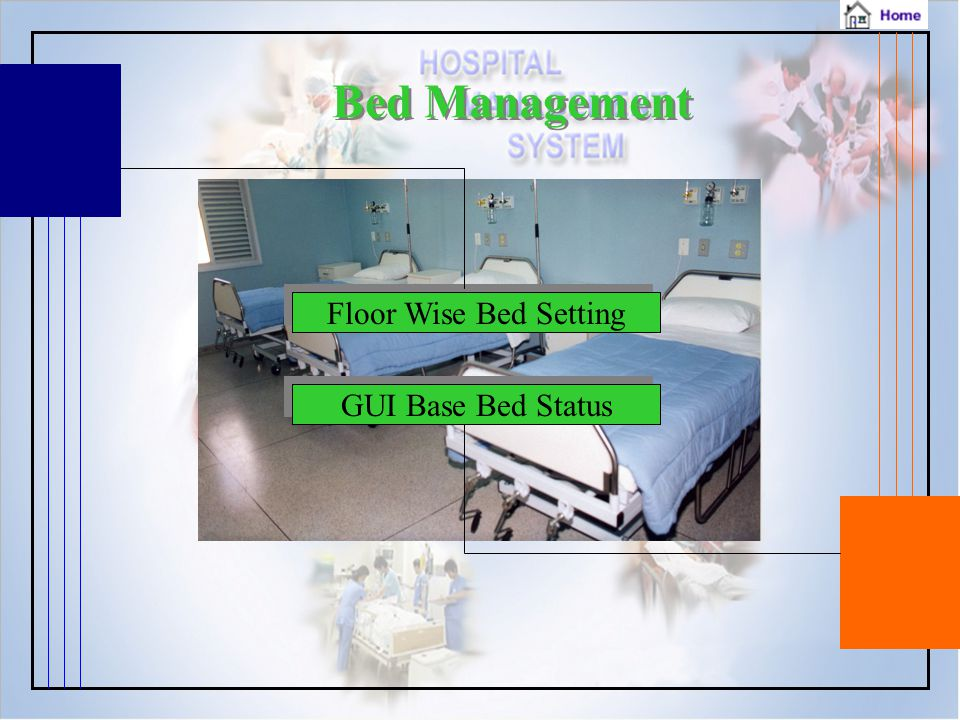 Bed Management Floor Wise Bed Setting GUI Base Bed Status