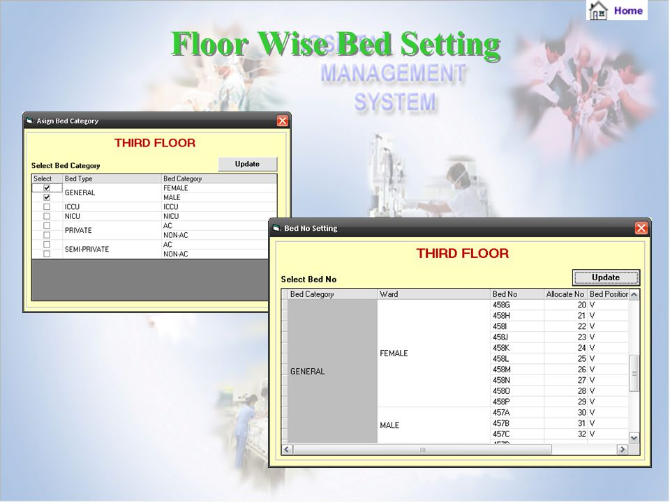 Floor Wise Bed Setting