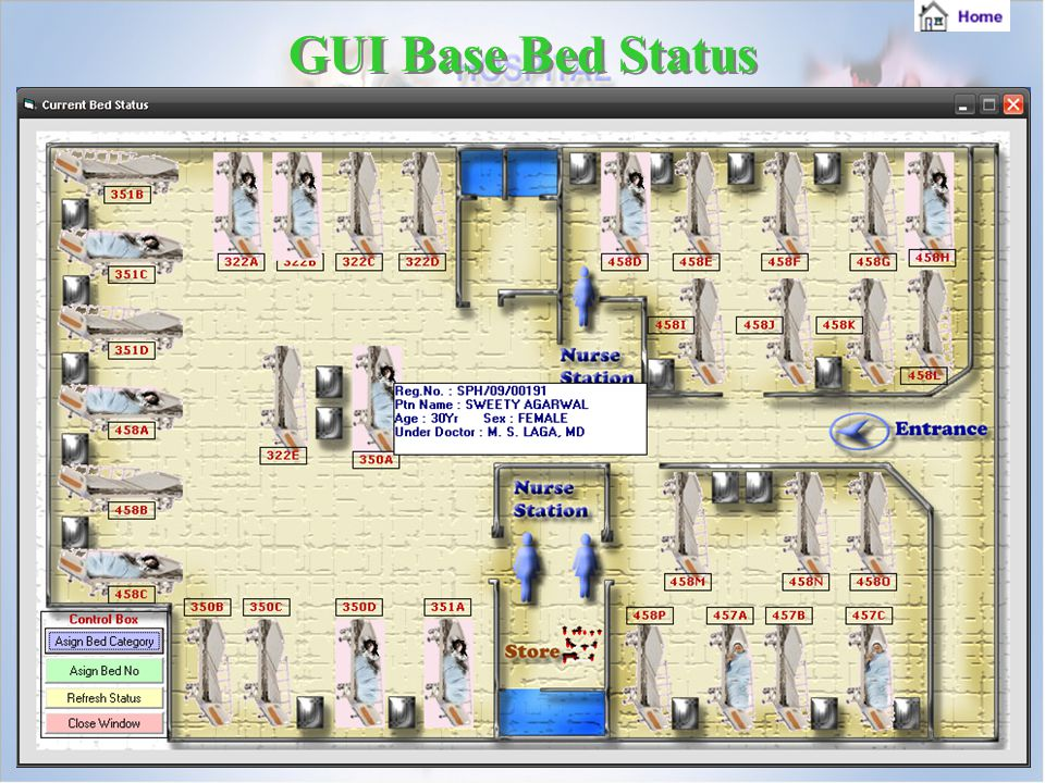 GUI Base Bed Status