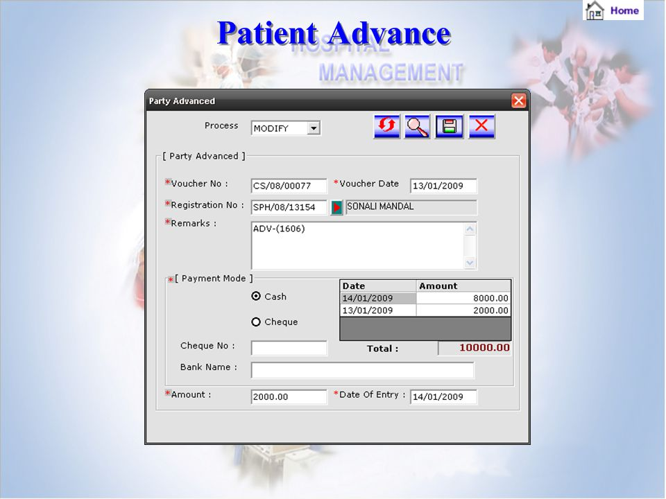 Patient Advance