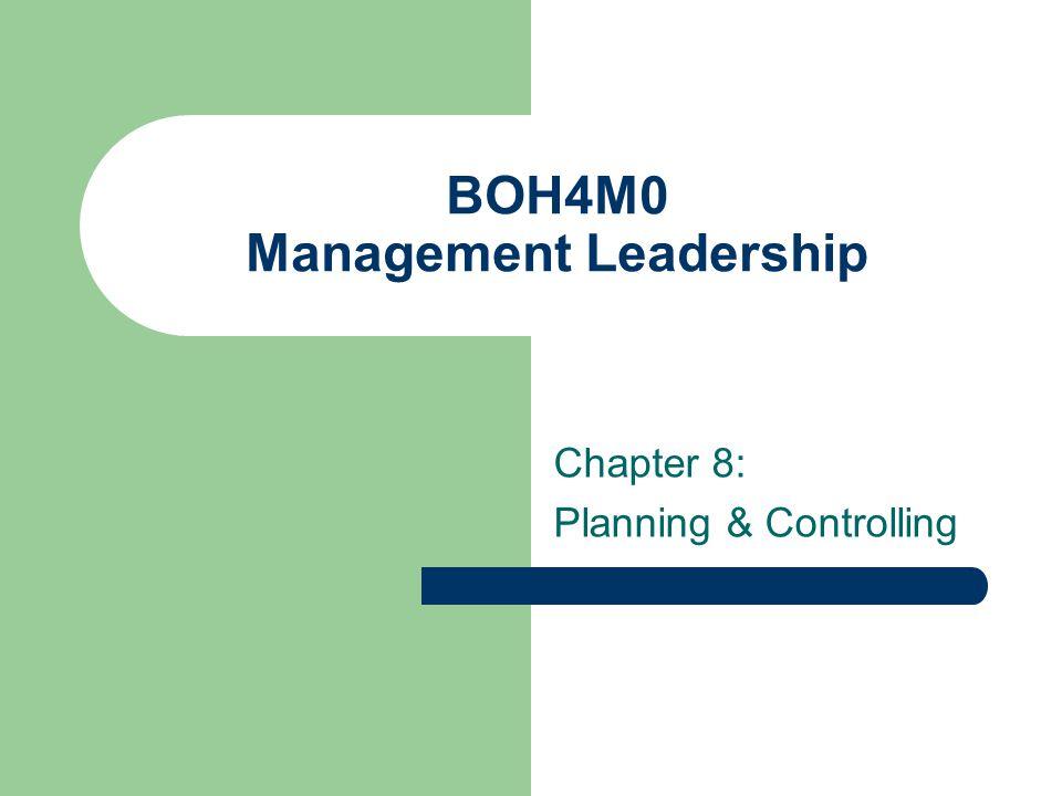 BOH4M0 Management Leadership