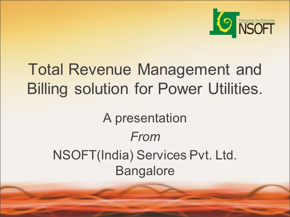 Total Revenue Management and Billing solution for Power Utilities.