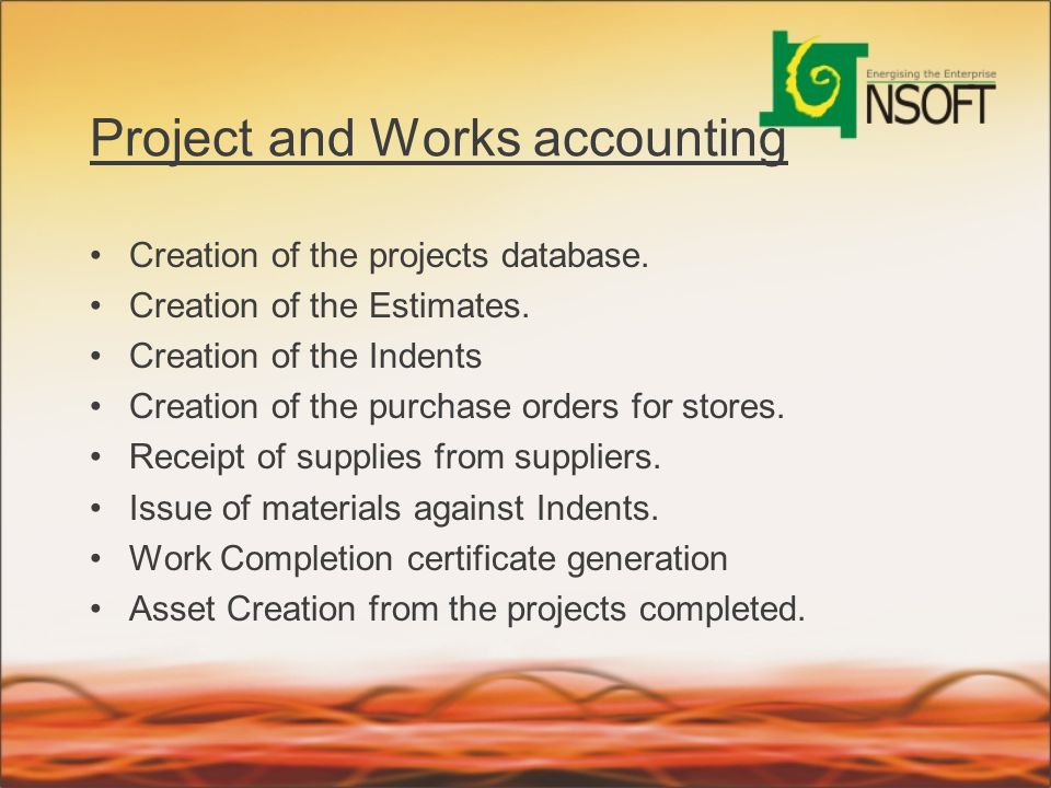 Project and Works accounting