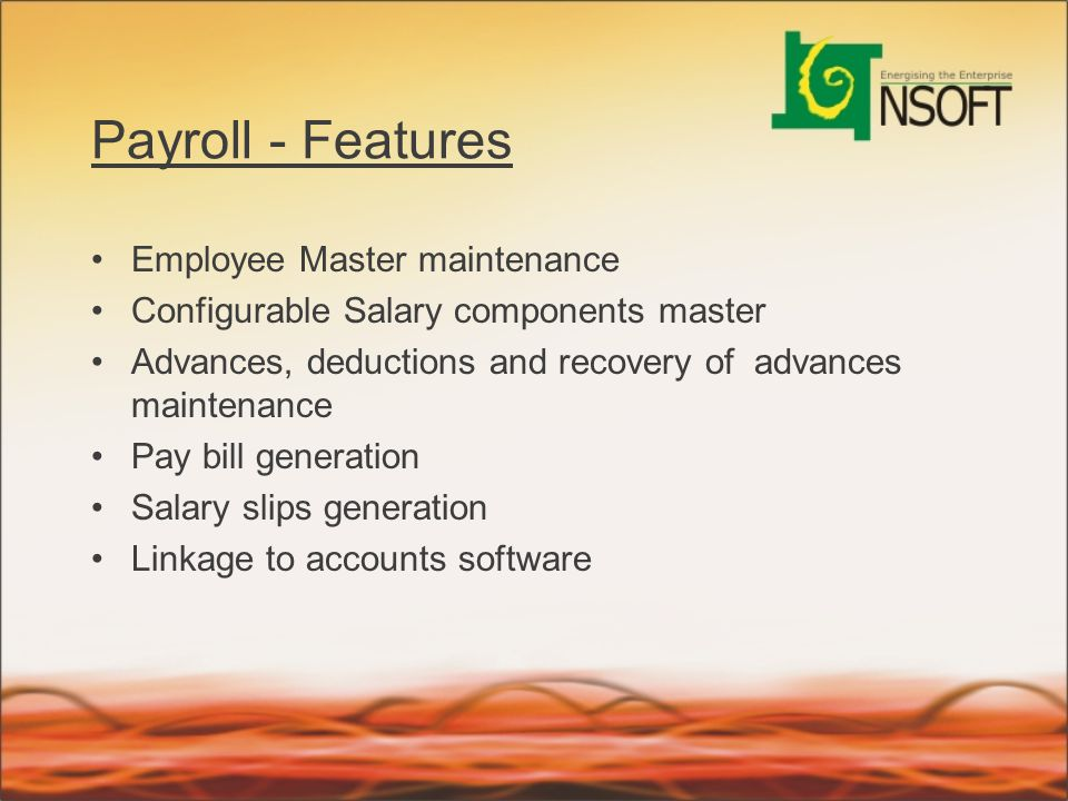 Payroll - Features Employee Master maintenance