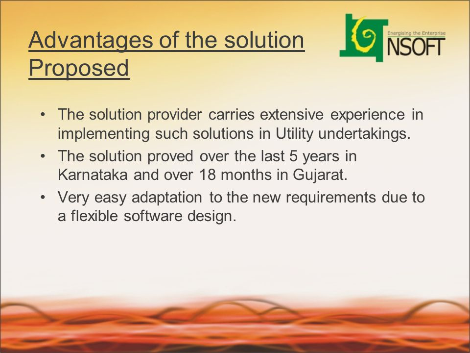 Advantages of the solution Proposed