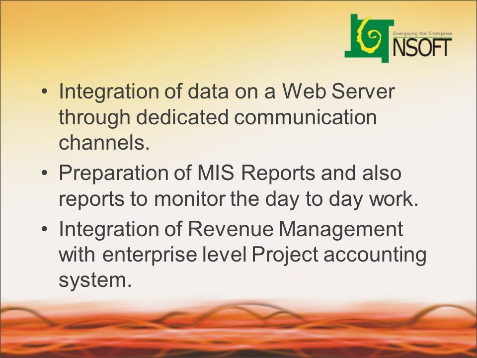Integration of data on a Web Server through dedicated communication channels.