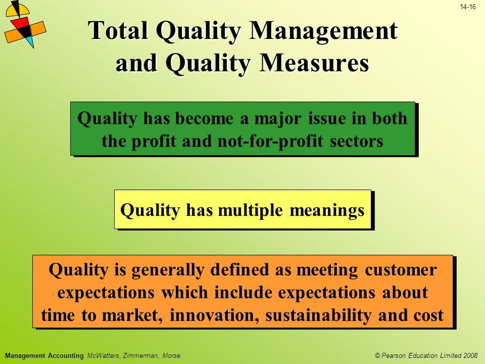 Total Quality Management and Quality Measures