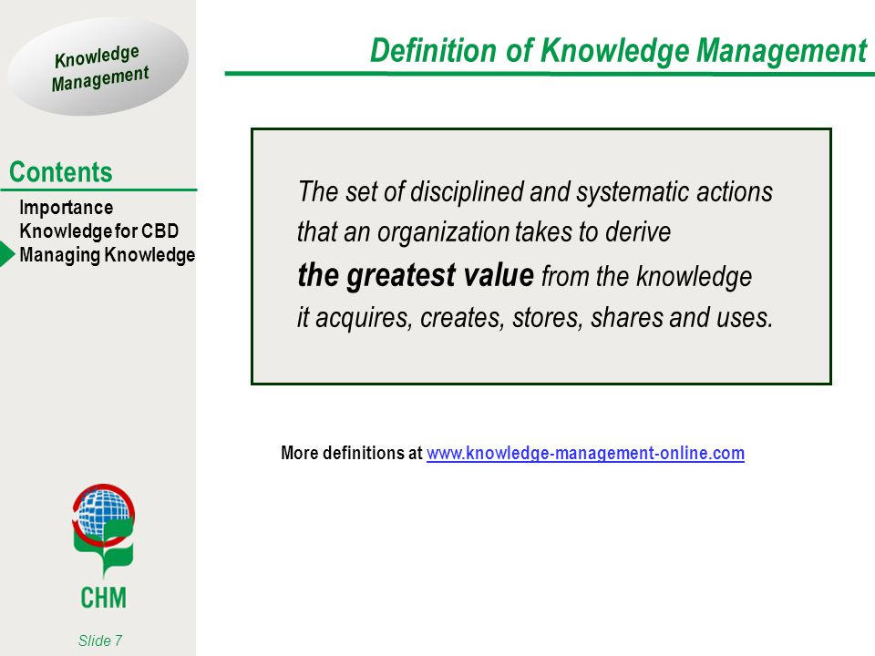 Definition of Knowledge Management