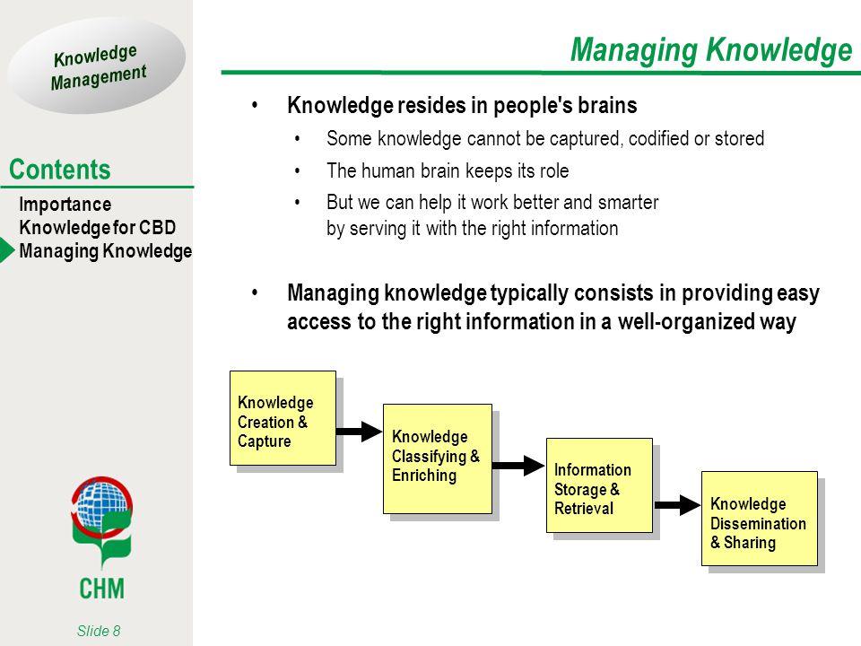 Managing Knowledge Knowledge resides in people s brains