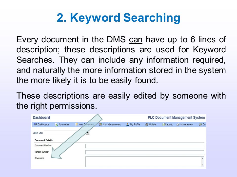 2. Keyword Searching