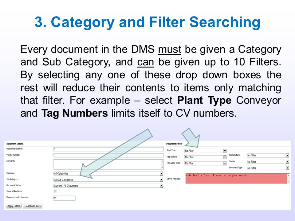 3. Category and Filter Searching