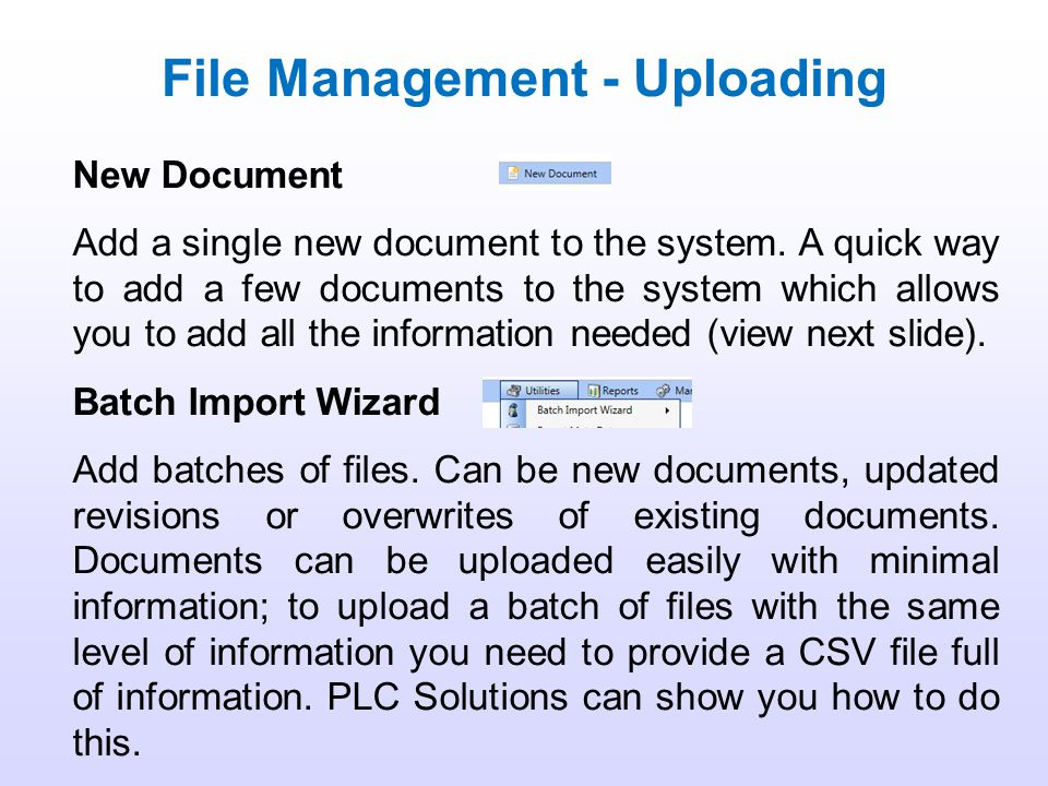 File Management - Uploading