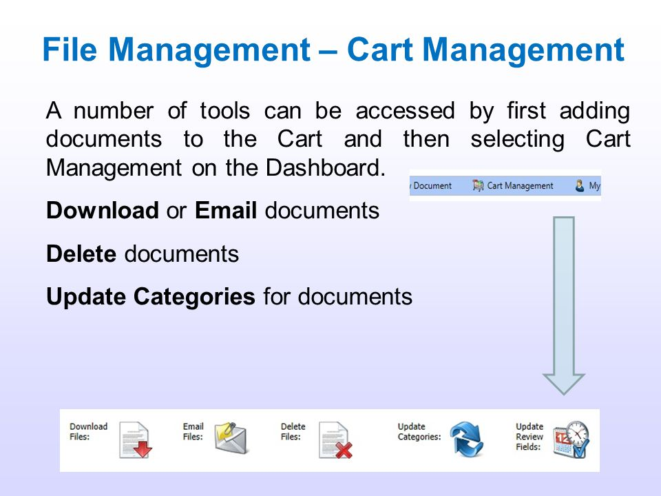 File Management – Cart Management
