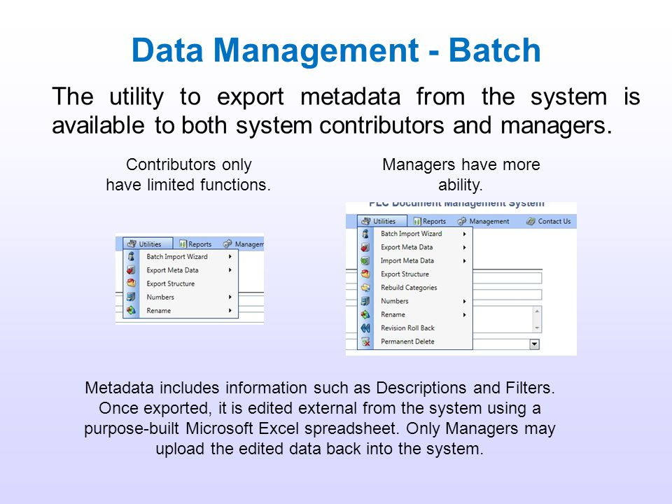 Data Management - Batch