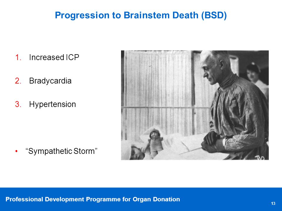 Progression to Brainstem Death (BSD)