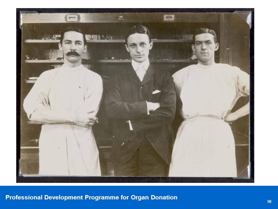 Though (middle) went on to be chief surgical resident.