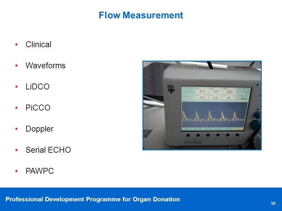 Flow Measurement Clinical Waveforms LiDCO PiCCO Doppler Serial ECHO