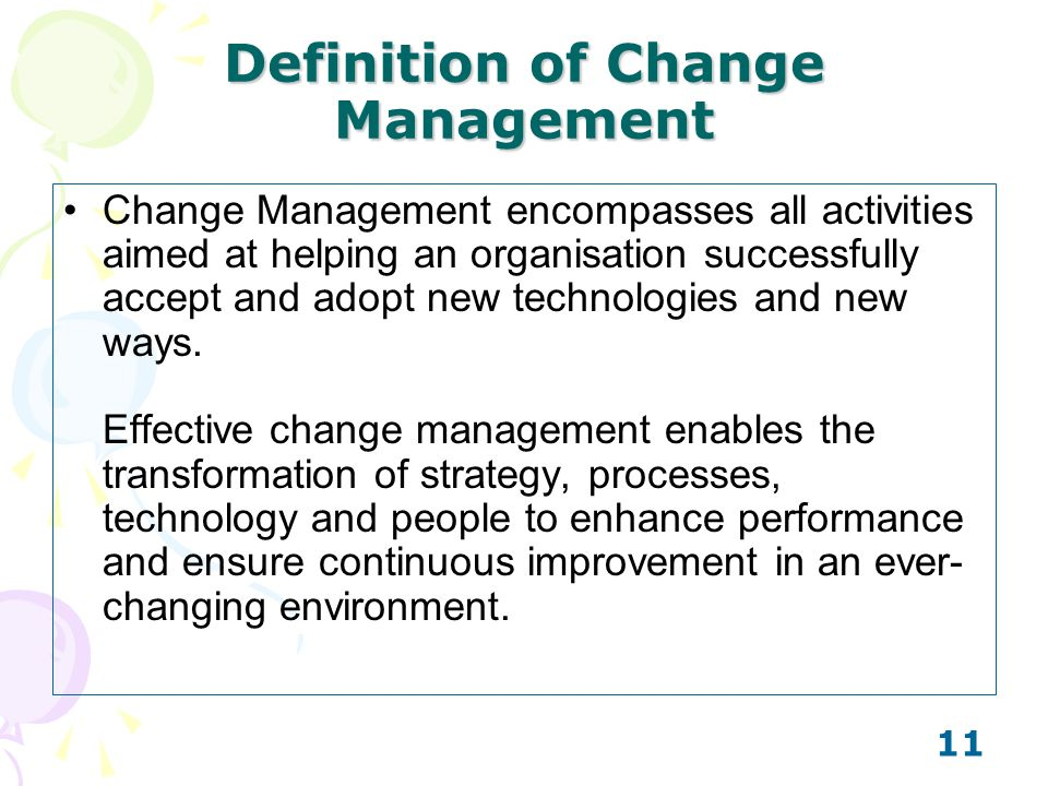 Definition of Change Management