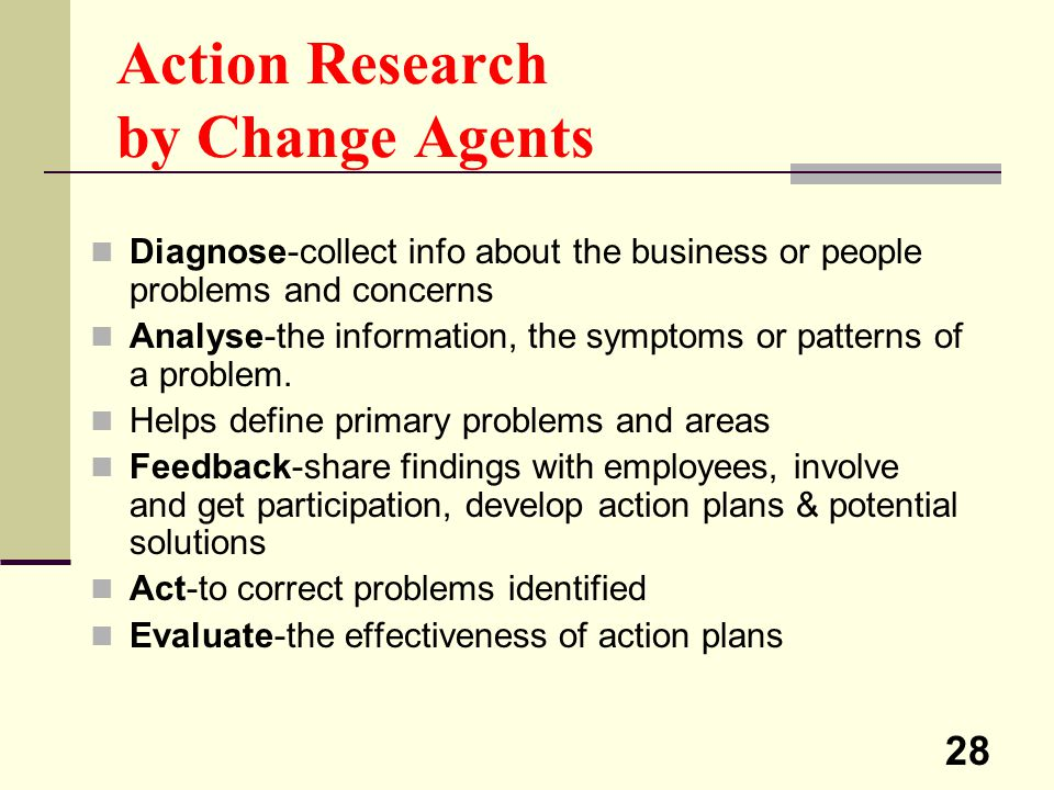 Action Research by Change Agents