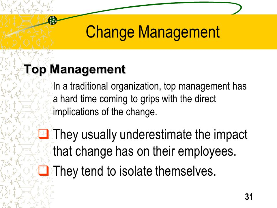 Change Management Top Management.