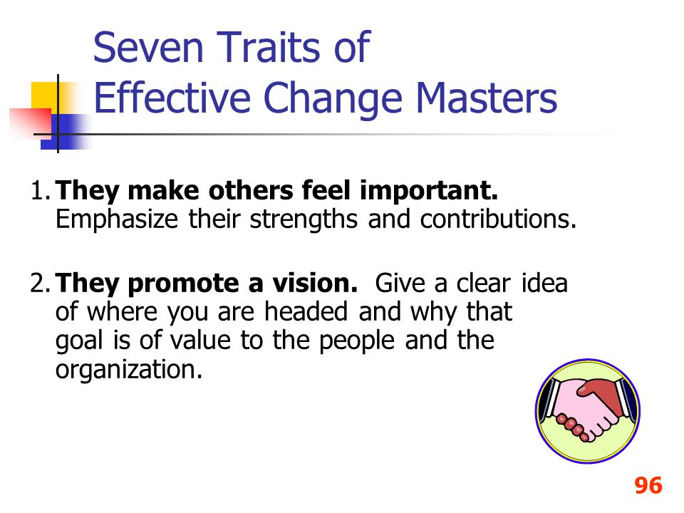 Seven Traits of Effective Change Masters