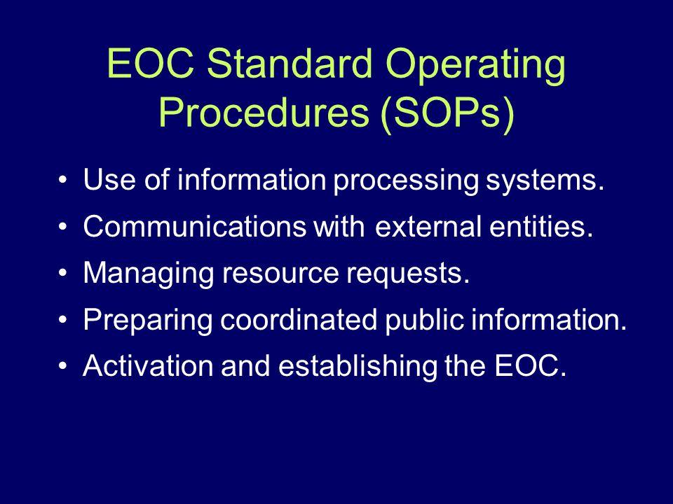 EOC Standard Operating Procedures (SOPs)