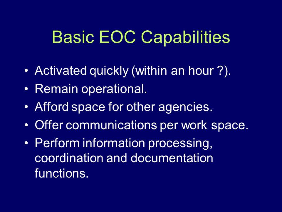 Basic EOC Capabilities