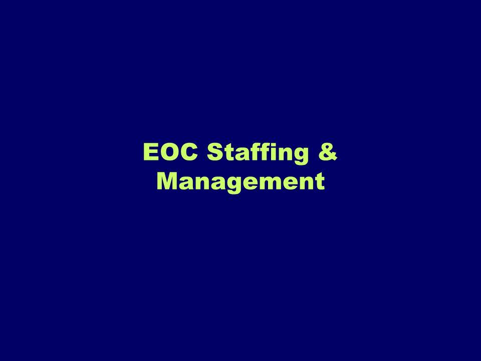 EOC Staffing & Management