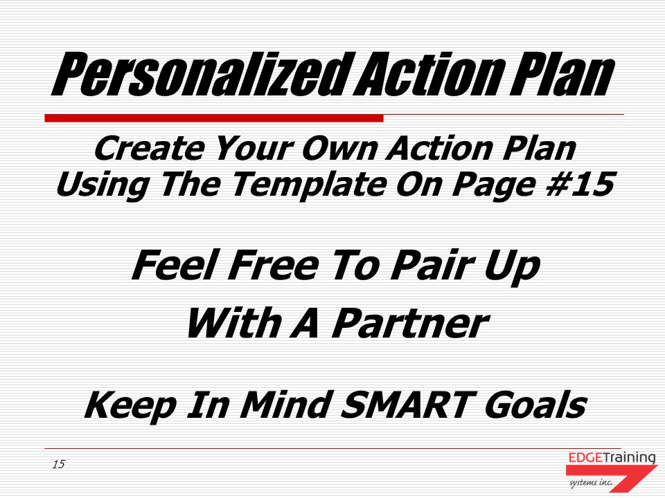 Personalized Action Plan