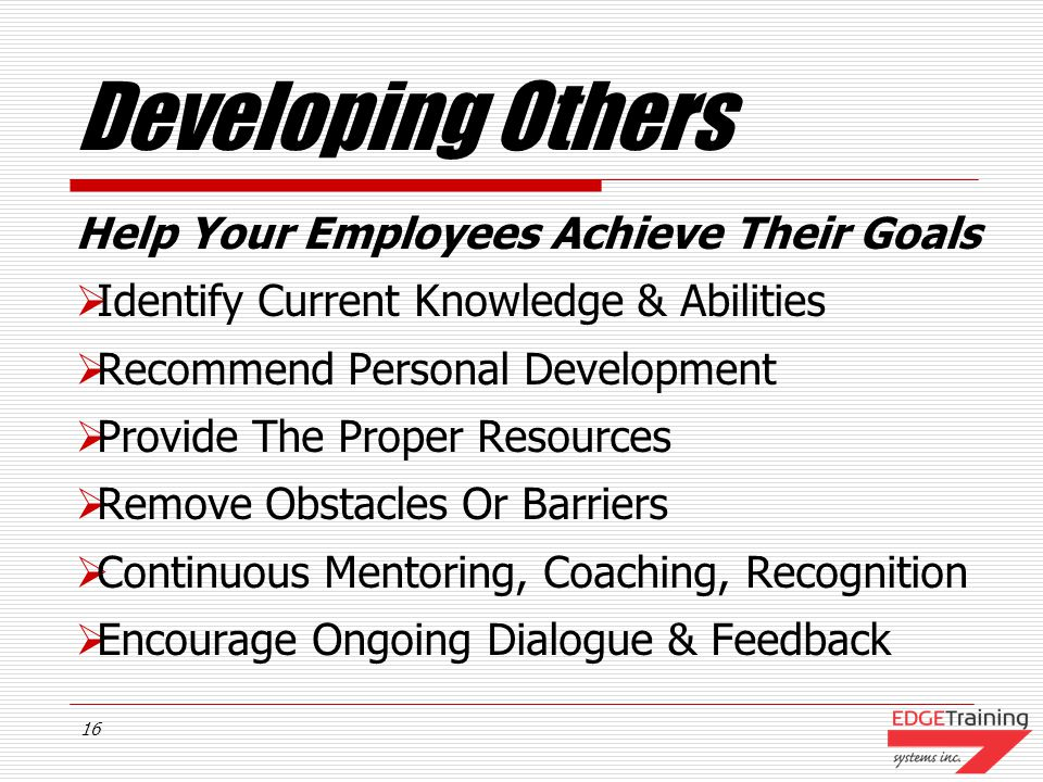 Developing Others Help Your Employees Achieve Their Goals