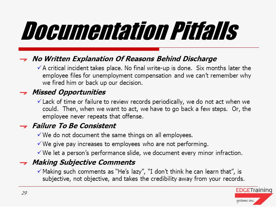 Documentation Pitfalls