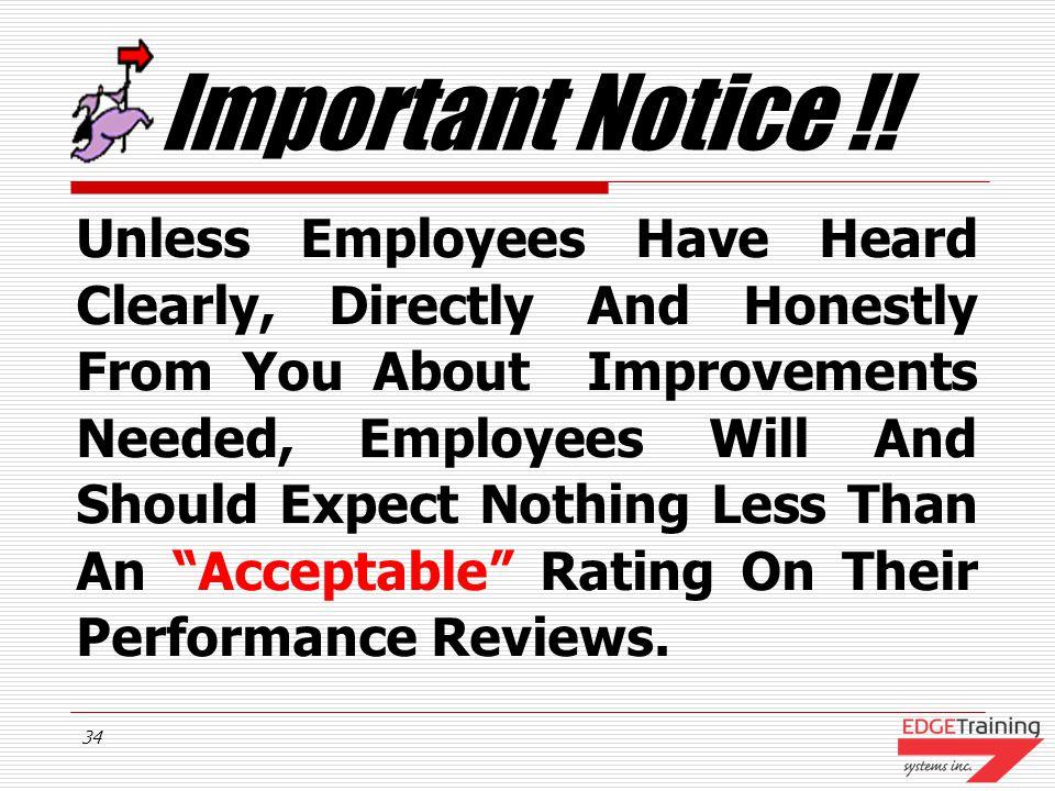 Important Notice !!