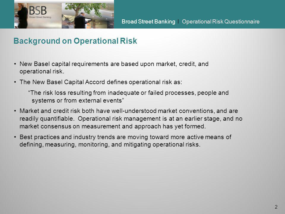 Background on Operational Risk