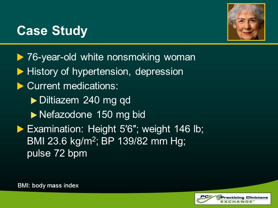 Case Study 76-year-old white nonsmoking woman