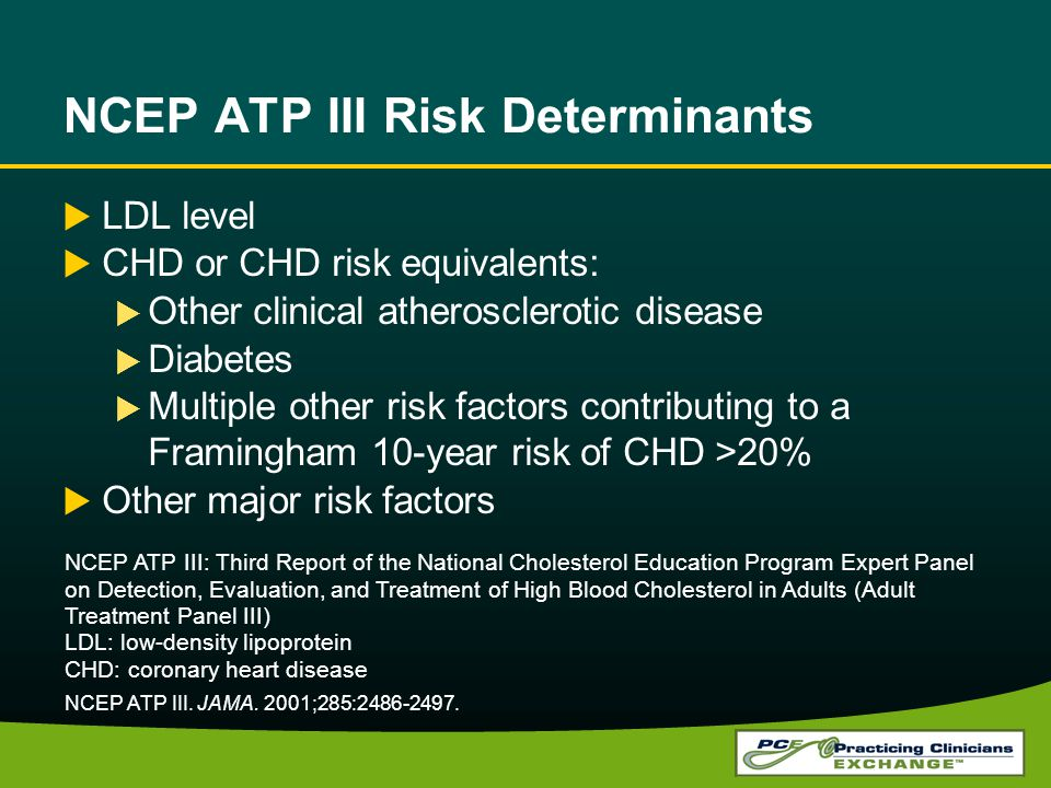 NCEP ATP III Risk Determinants