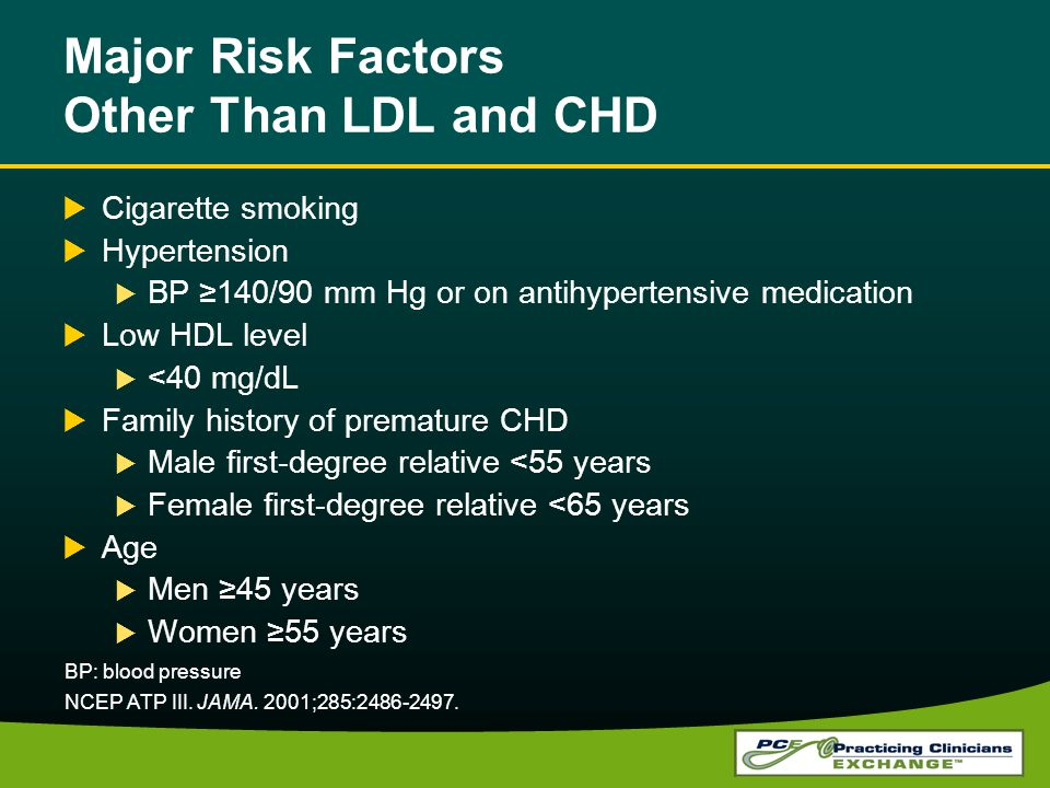 Major Risk Factors Other Than LDL and CHD