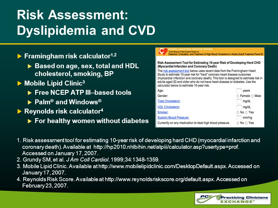 Risk Assessment: Dyslipidemia and CVD