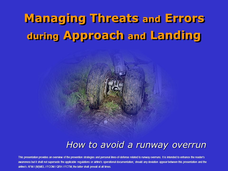 Managing Threats and Errors during Approach and Landing