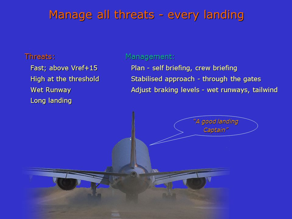 Manage all threats - every landing