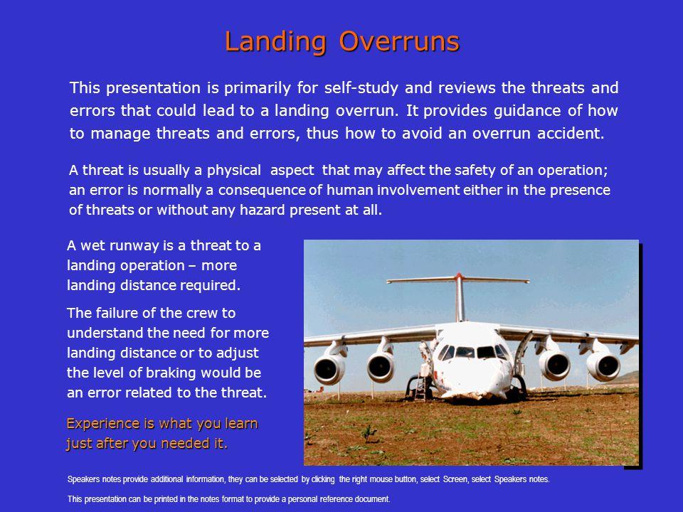 Landing Overruns