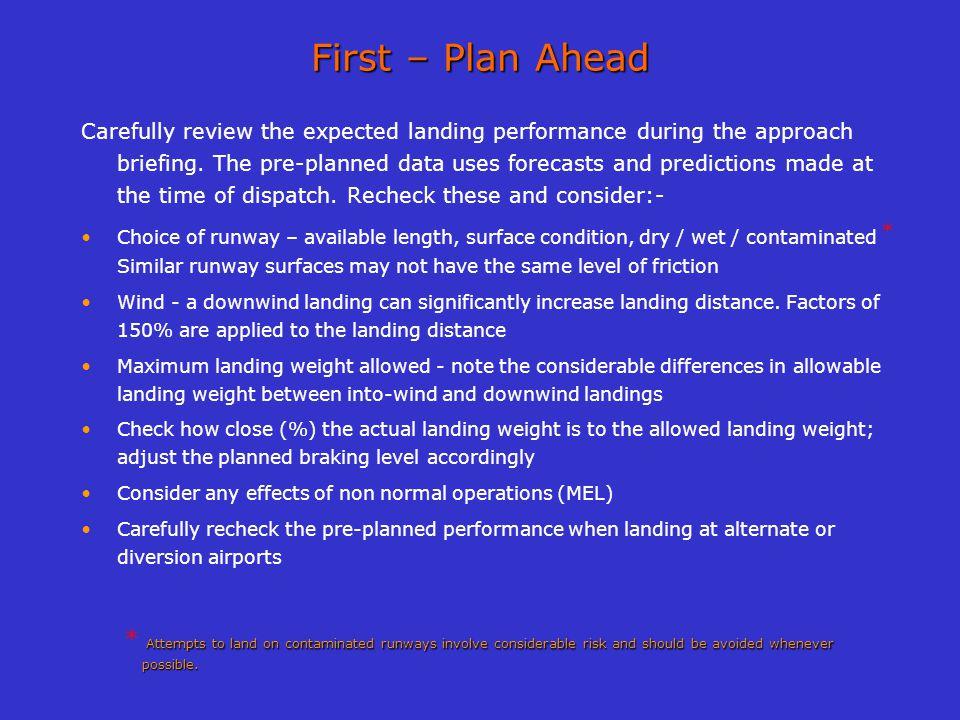 First – Plan Ahead