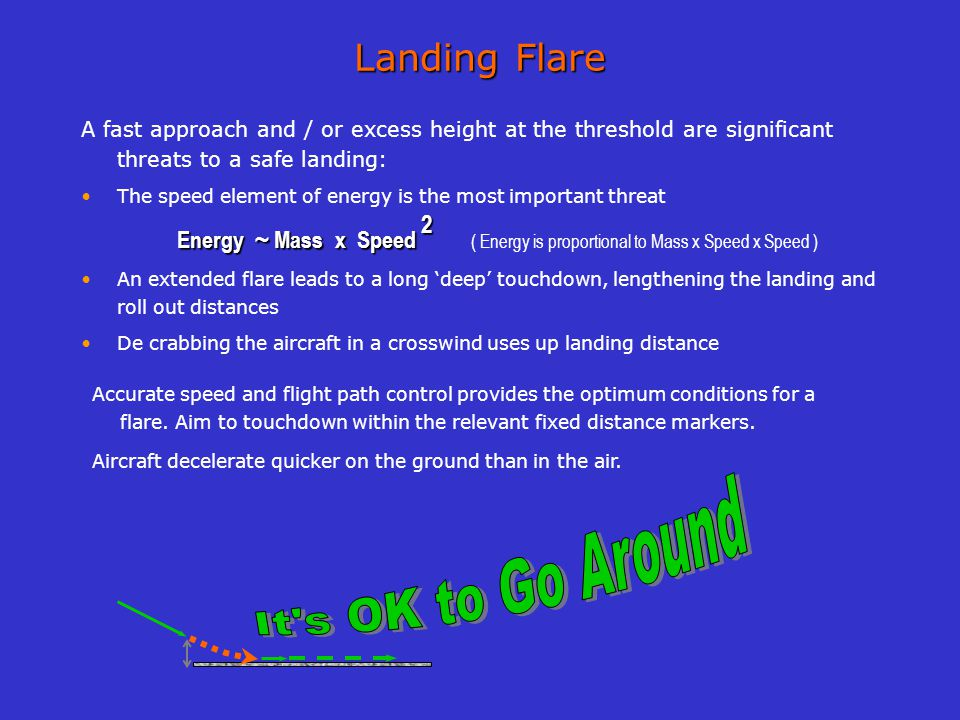 It s OK to Go Around Landing Flare
